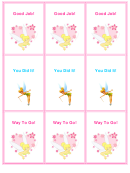 Tinkerbell Reward Coupons Template