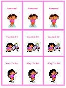 Dora Reward Coupons Template