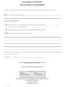 Form Cr2e076 - Statement Of Denial For General Partnership