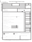Form Br 1040ez - Attach To 1040 Form - Individual Return - 2001
