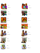 Kwanza Gift Labels Template