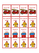 Fire Truck Potty Coupons Template