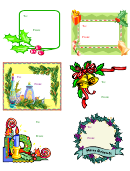 Christmas Labels Large Gift Labels Template