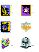 Hanukkah Gift Labels Template