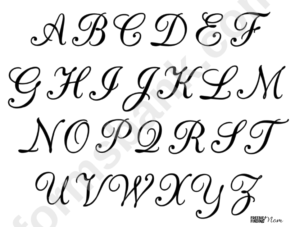 Calligraphy Letters Template