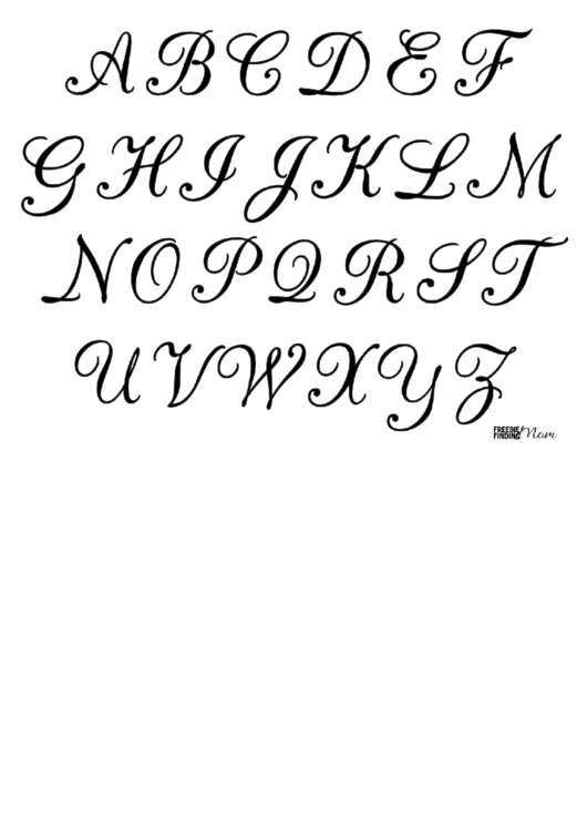 Calligraphy Letters Template Printable pdf