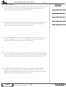 Examining Number Sets (word) - Math Worksheet With Answers