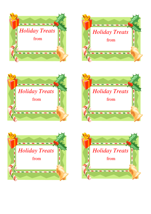 Holiday Treat Labels Gift Label Template