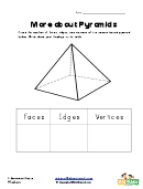 3 Dimensional Shapes Worksheet - Pyramid