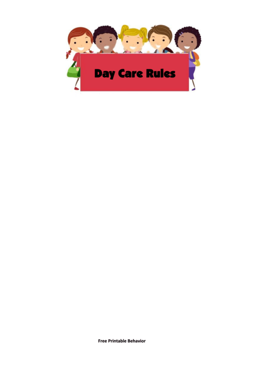 Fillable Day Care Rules Behavior Chart Printable pdf