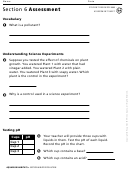 Aquarium Habitats Section 6 Water Pollution Biology Worksheet