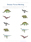 Dinosaur Picture Matching Worksheet