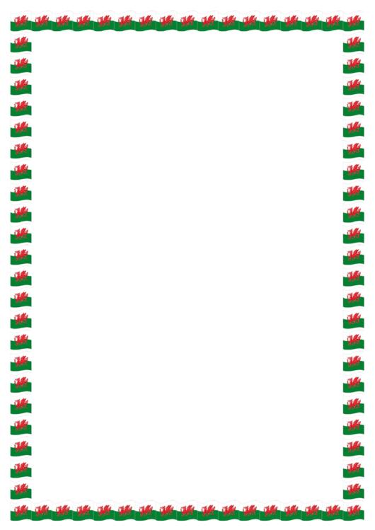 Welsh Bordered Paper Printable pdf