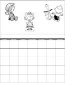 Peanuts Daily Calendar Template