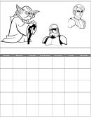 Star Wars Daily Calendar Template