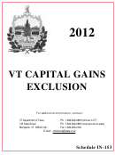 Schedule In-153 - Vt Capital Gains Exclusion - 2012