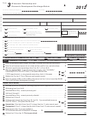 Form 3 - Wisconsin Partnership And Economic Development Surcharge Return - 2012