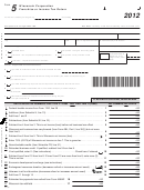 Form 5 - Wisconsin Corporation Franchise Or Income Tax Return - 2012