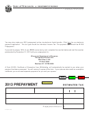 Form A-115 - Prepayment Estimated Tax - 2013