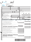 Form 1 - Wisconsin Income Tax - 2012