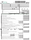 Form 1a - Wisconsin Income Tax - 2012