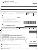 Form 4 - Wisconsin Corporation Franchise Or Income Tax Return - 2012