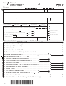 Form 2 - Wisconsin Fiduciary Income Tax For Estates Or Trusts - 2012