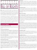 Form Dor-3097 - Missouri Taxpayer Bill Of Rights
