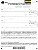 Montana Form Pt-stm - Second-tier Pass-through Entity Owner Statement And Waiver Request (for Tax Years 2011 And Earlier)