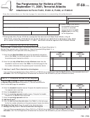 Form It-59 - Tax Forgiveness For Victims Of The September 11, 2001, Terrorist Attacks