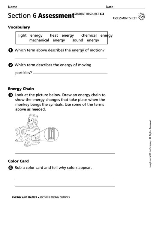 30 Matter And Energy Worksheet - Worksheet Resource Plans