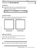 Solutions And Crystals Section 9 Assessment Chemistry Worksheet