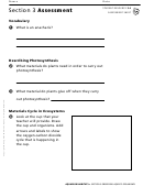 Section 3 Assessment Observing Aquatic Organisms Biology Worksheet