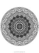 Wholeness Mandala Adult Coloring Page