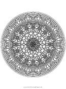 Buddhist Mandala Adult Coloring Page