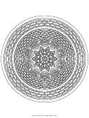 Brick Mandala Adult Coloring Page