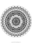 Detailed Mandala Adult Coloring Page