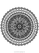 Circlet Mandala Adult Coloring Page
