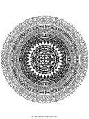 Circles Mandala Adult Coloring Page