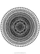 Heart Mandala Adult Coloring Page