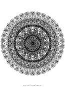 Ornate Mandala Adult Coloring Page