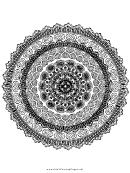 Romantic Mandala Adult Coloring Page