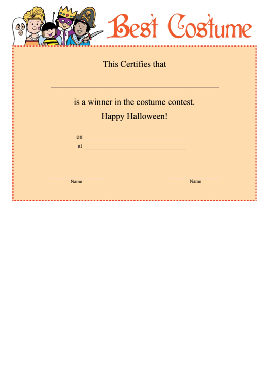 Top 7 Halloween Certificate Templates Free To Download In Pdf Format