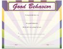 Good Behaviour Certificate