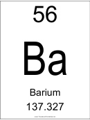 56 Ba Chemical Element Poster Template - Barium
