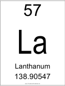 57 La Chemical Element Poster Template - Lanthanum