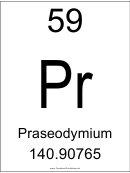 59 Pr Chemical Element Poster Template - Praseodymium