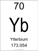 70 Yb Chemical Element Poster Template - Ytterbium