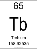 65 Tb Chemical Element Poster Template - Terbium
