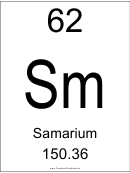 62 Sm Chemical Element Poster Template - Samarium